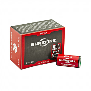 Surefire 123A Lithium Batteries - Box of 12