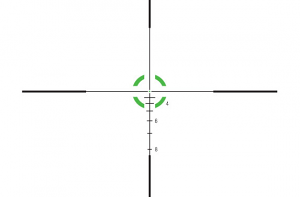 Trijicon AccuPower 1-4X24 30mm W/BDC - Circle/Dot Crosshair W/Green LED