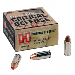 Hornady 9mm Luger 115 GR. FTX Critical Defense - 25RD