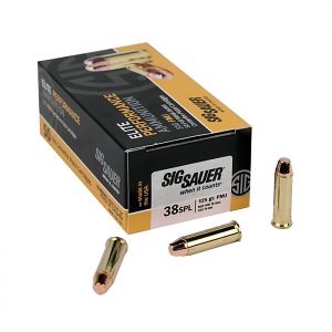 ​Sig Sauer .38 Special 125 GR. Elite Ball FMJ - 50RD Box