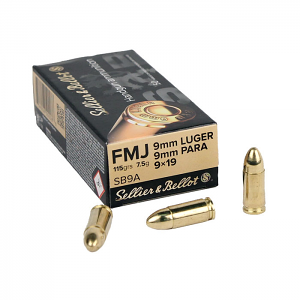 Sellier & Bellot 9mm Luger 115 GR. FMJ - 50RD