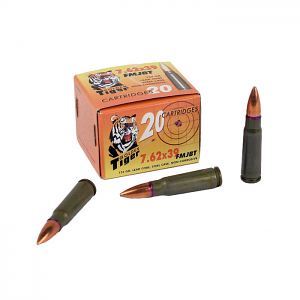 Golden Tiger 7.62x39mm 124 GR. FMJBT - Steel Case - 20RD