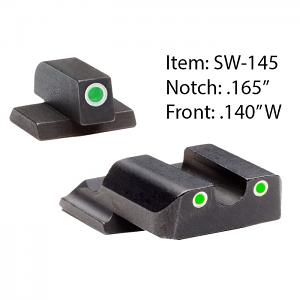 Ameriglo Tritium Night Sight Set - Classic - S&W M&P Shield - Green/Green