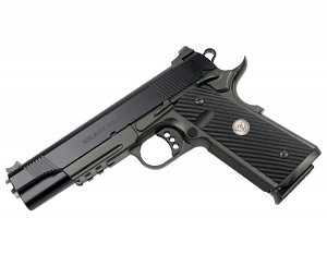 Wilson Combat CQB Tactical LE, Rail, 9mm, G10 Grips, Black/OD Green