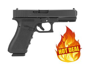Glock 37 .45GAP, Standard Sights - BLACK
