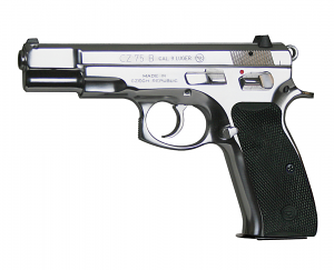 CZ-75B STAINLESS, Fixed Sights, 9mm