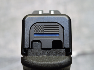Milspin Custom Back Plate - Thin Blue Line - Standard - Stainless Steel