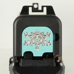 Milspin Custom Back Plate - Renaissance - Glock 43 - Teal