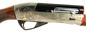 Benelli Accademia Limited Edition Shotgun Nickel Plated and Engraved Receiver
