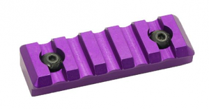5 Slot Picatinny Rail - Purple