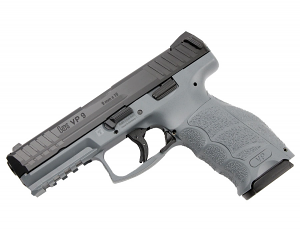 H&K VP9-Grey, 9mm Striker Fired, Fixed Sights