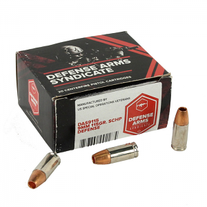 D.A.S. 9mm Luger 115 GR. Solid Copper Hollow Point - 20RD