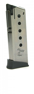 Sig Sauer P220 COMPACT .45 6RD magazine - Stainless