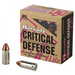Hornady 9mm Luger 100 GR. FlexLock Critical Defense Lite - 25RD