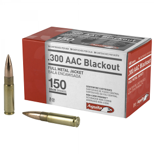 Aguila 300 Blackout 150 GR FMJ Boat Tail - 50RD