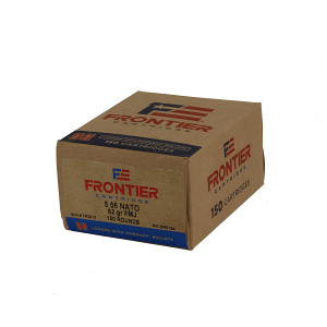 Frontier Cartridge FR2615 Rifle 5.56x45mm NATO 62 gr Full Metal Jacket (FMJ) 150 Bx