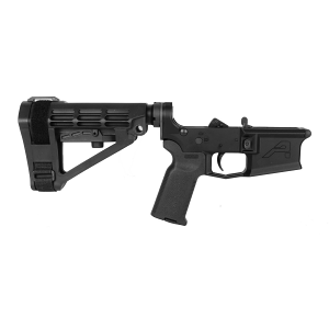 Aero Precision M4E1 Pistol Complete Lower Receiver MOE-K2 Grip, SBA4 Brace - BLK