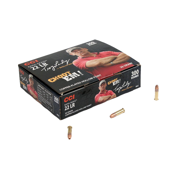 CCI Signature Mini Mag .22LR 36GR Copper-Plated Hollow Point - 300RD