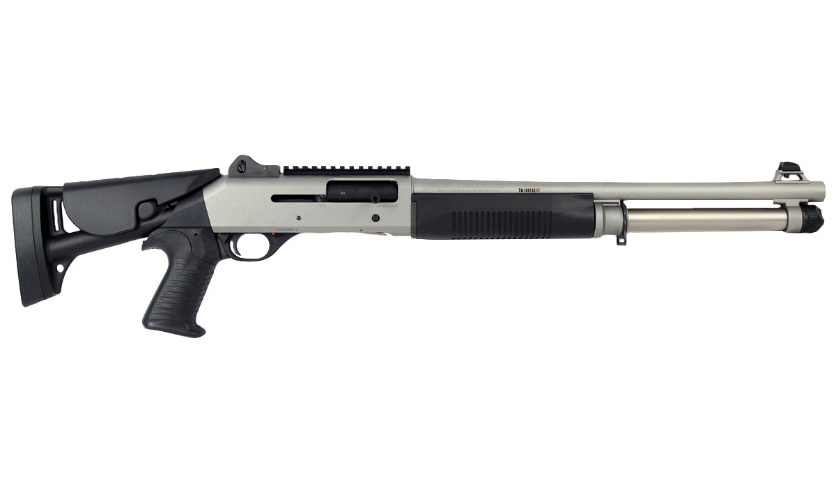 "Benelli M4 H2O Tactical Shotgun W/Telescoping Stock, 18.5"" Barrel, 12 Gauge"