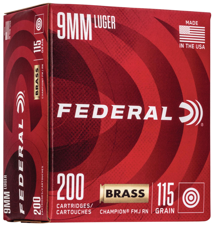Federal WM51992 Champion Training 9mm Luger 115 gr Full Metal Jacket