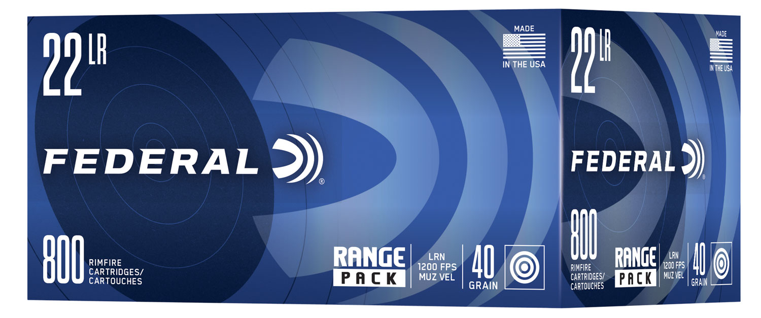 Federal 729B800 Range 22 LR 40 gr Lead Round Nose (LRN) 800RD Box