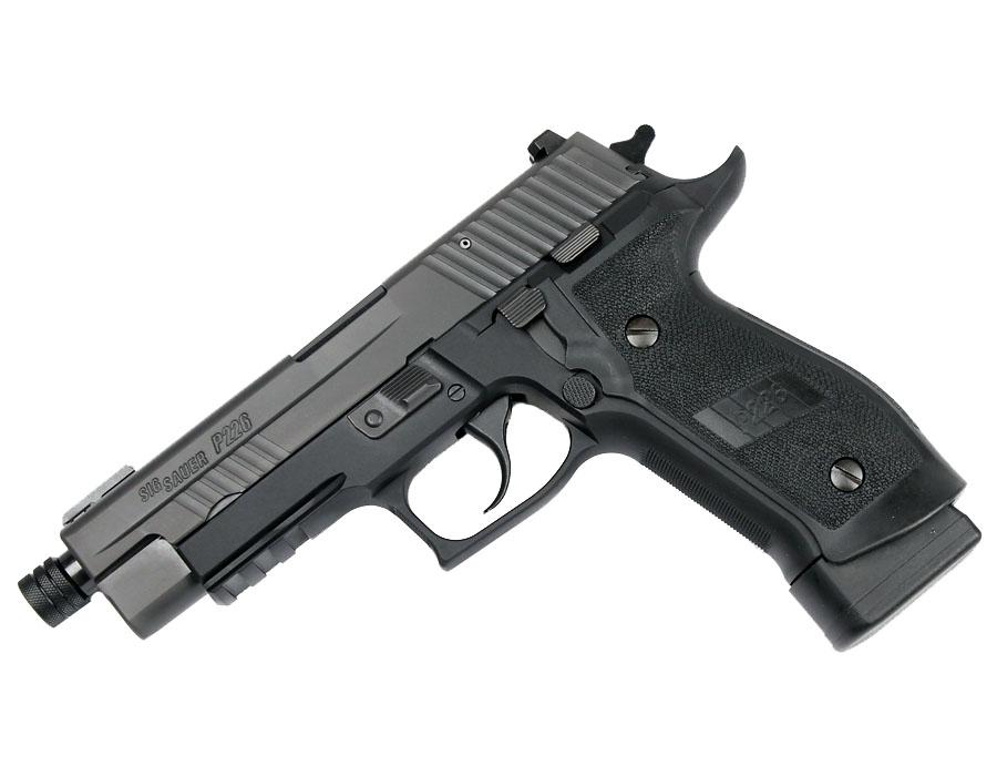 Sig Sauer P226 TACOPS, 9mm, Nitron, Night Sights, DA/SA, Threaded BBL