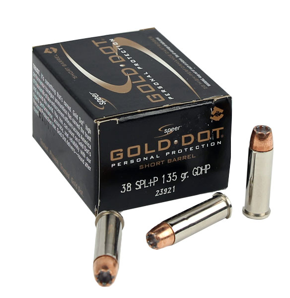 Speer Gold Dot .38 Special +P 135 GR. GDHP - 20RD
