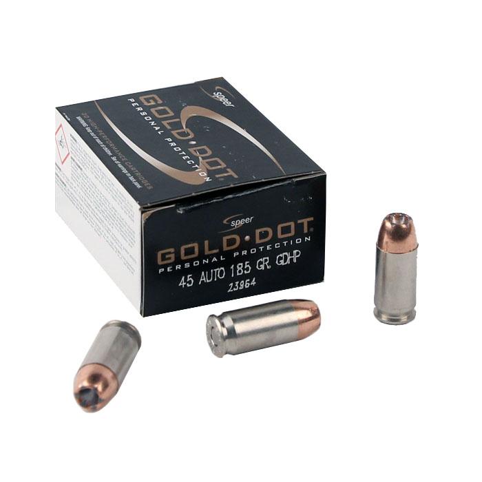 Speer Gold Dot .45ACP 185 GR. GDHP - 20RD Box