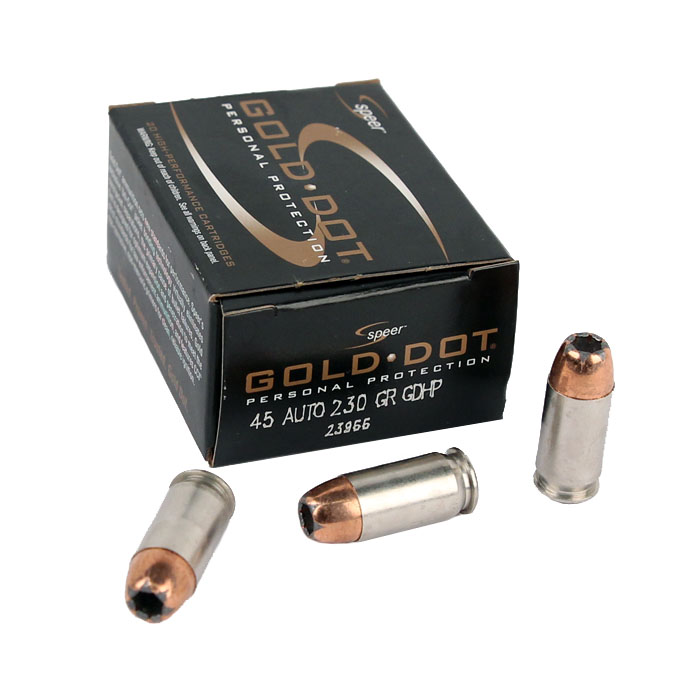 Speer Gold Dot .45ACP 230 GR. GDHP - 20RD