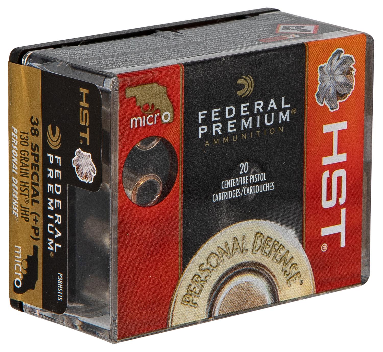 Federal Premium Personal Defense HST Micro .38 SPL +P 130 GR HST JHP - 20RD