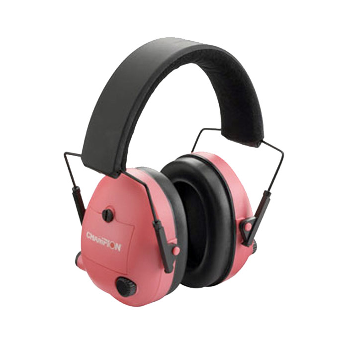 Champion Electronic Ear Muffs - Pink