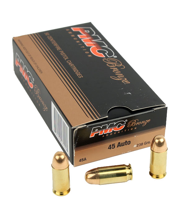 PMC Bronze Line .45ACP 230 GR. FMJ - 50RD