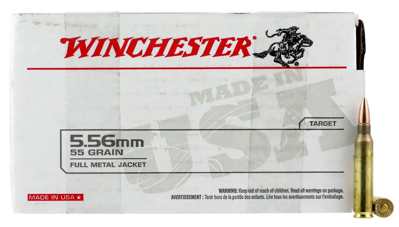 Winchester Ammo WM193150 USA 5.56x45mm NATO 55 gr Full Metal Jacket