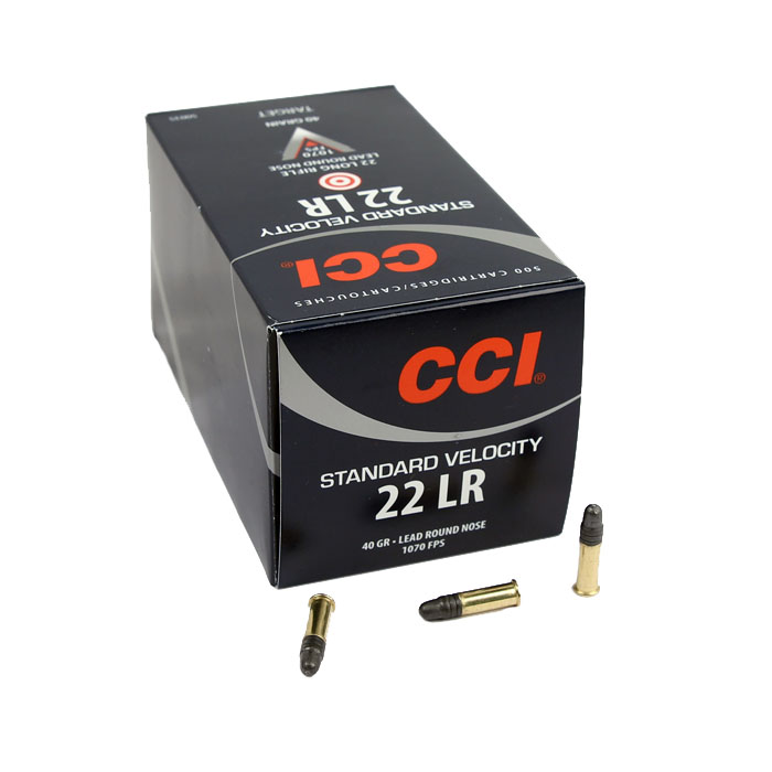 CCI Standard Velocity .22LR 40GR LRN - 500RD