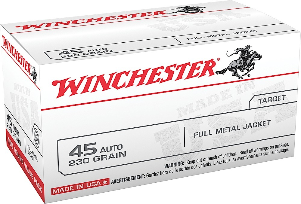 Winchester Ammo USA45AVP USA 45 ACP 230 gr Full Metal Jacket
