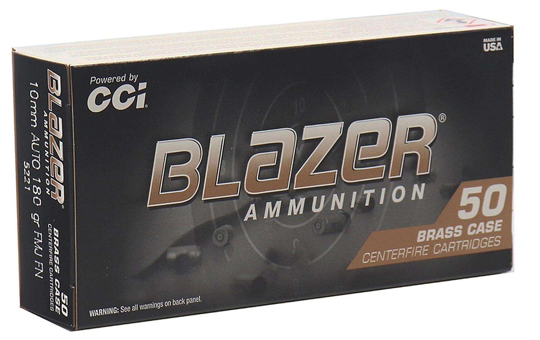 CCI Blazer Brass 10mm Auto 180 GR. FMJ - 50RD