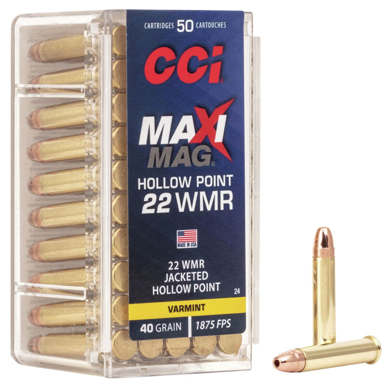 CCI Maxi Mag .22WMR 40GR JHP