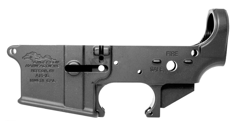 Anderson AR-15 Stripped Lower Multi-Caliber - Black