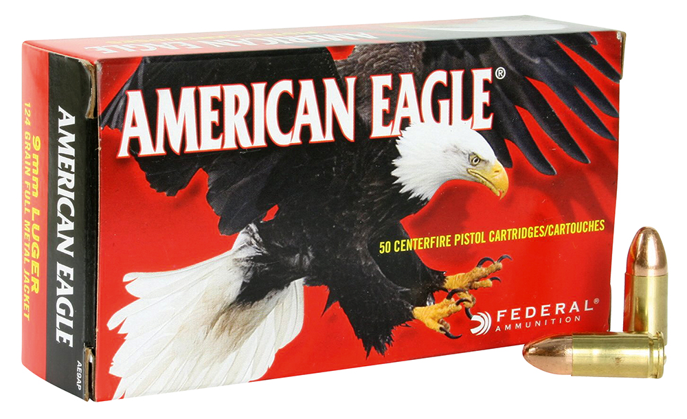 Federal AE9AP American Eagle 9mm Luger 124 gr Full Metal Jacket (FMJ)