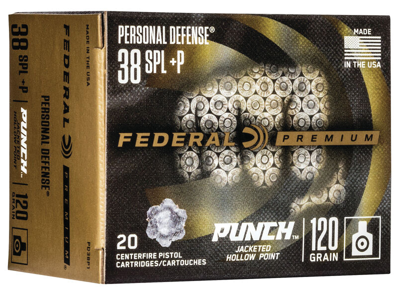 Federal PD38P1 Premium Punch 38 Special +P 120 gr Jacketed Hollow Point