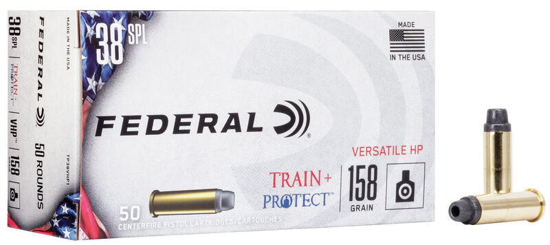 Federal TP38VHP1 Train + Protect 38 Special 158 gr Versatile Hollow Point