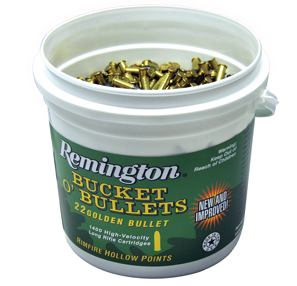 Remington .22LR Golden Bullet 36GR Plated Hollow Point - 4 Buckets - 5600 RD Case