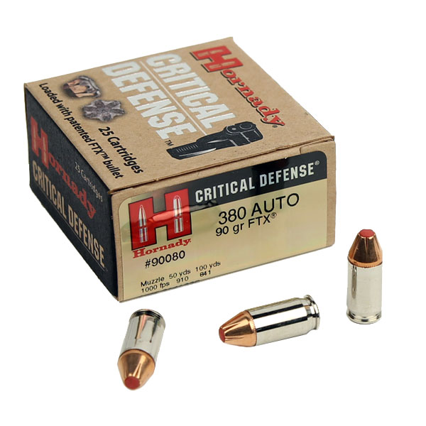 Hornady Critical Defense .380 90 GR. FTX HP - 25RD
