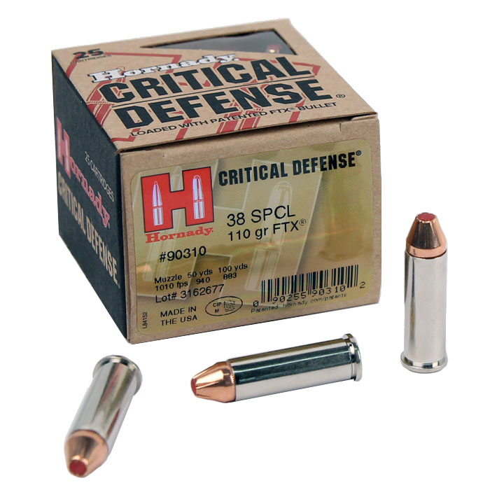 Hornady .38 Special 110 GR. FTX Critical Defense - 25RD