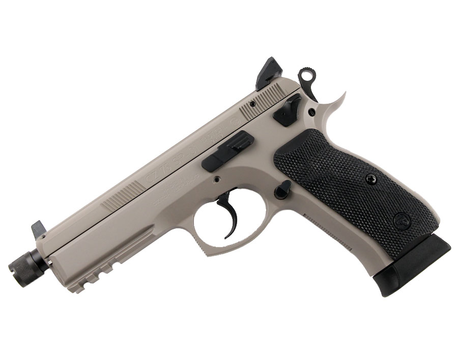 CZ 75 SP-01 Tactical, Urban Grey, Suppressor Ready, Night Sights, 9mm