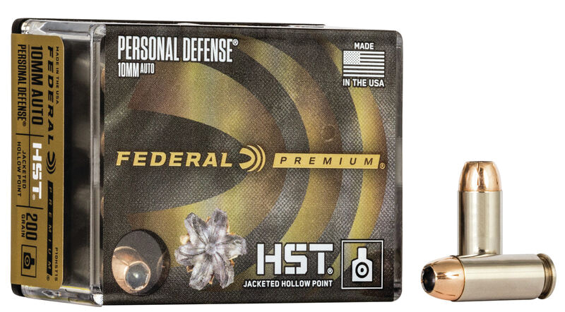 Federal P10HST1S Premium Personal Defense 10mm Auto 200 gr HST Jacketed Hollow Point