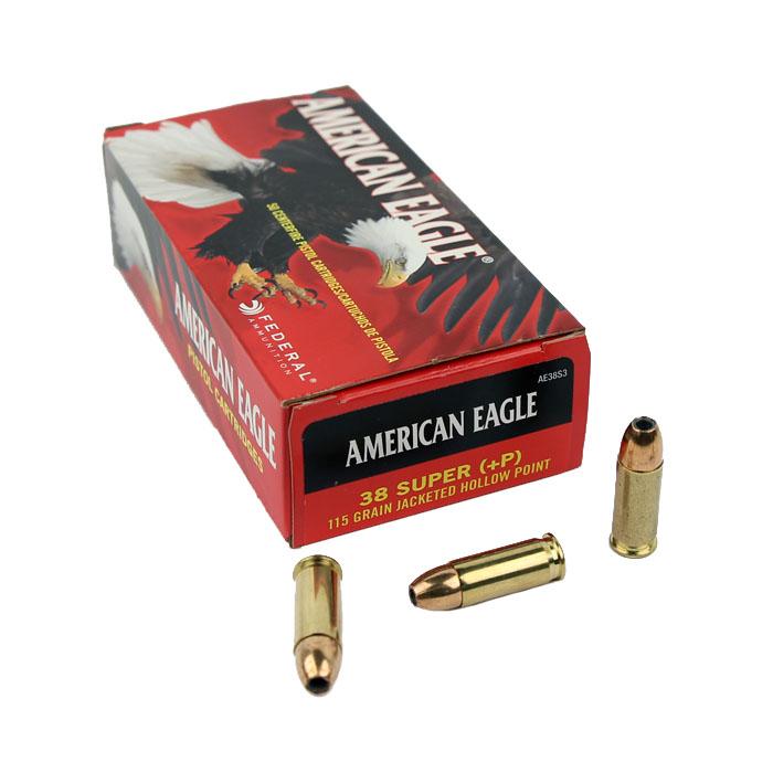 Federal American Eagle .38 Super +P 115 GR. JHP - 50RD