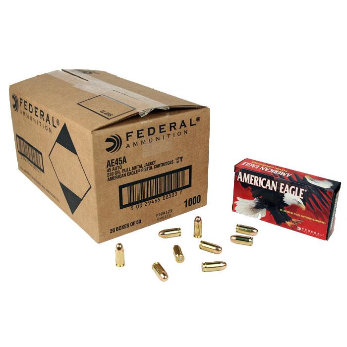 Federal American Eagle .45ACP 230 GR. FMJ - 1000RD Case