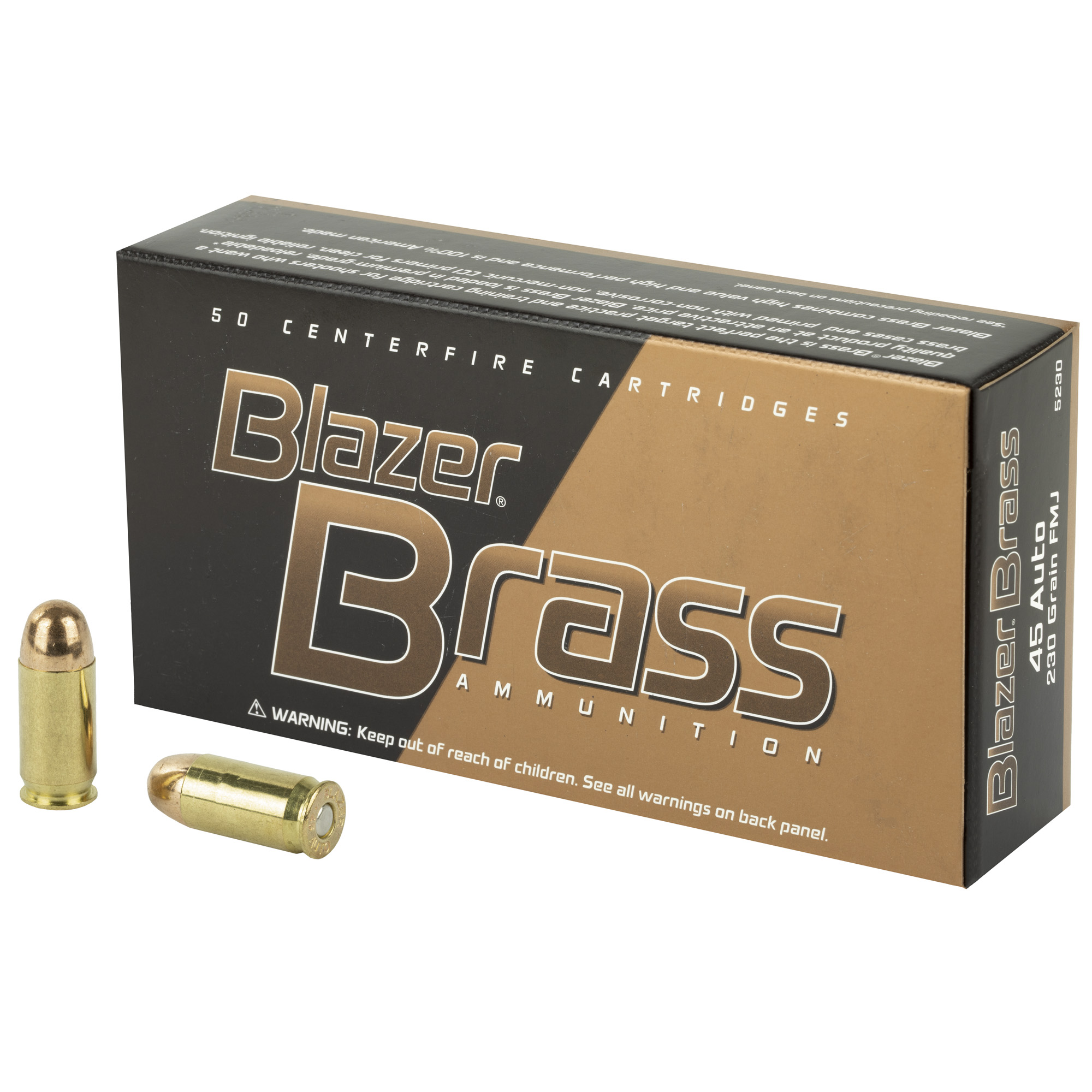 CCI Blazer Brass .45ACP 230 GR. FMJ - 50RD
