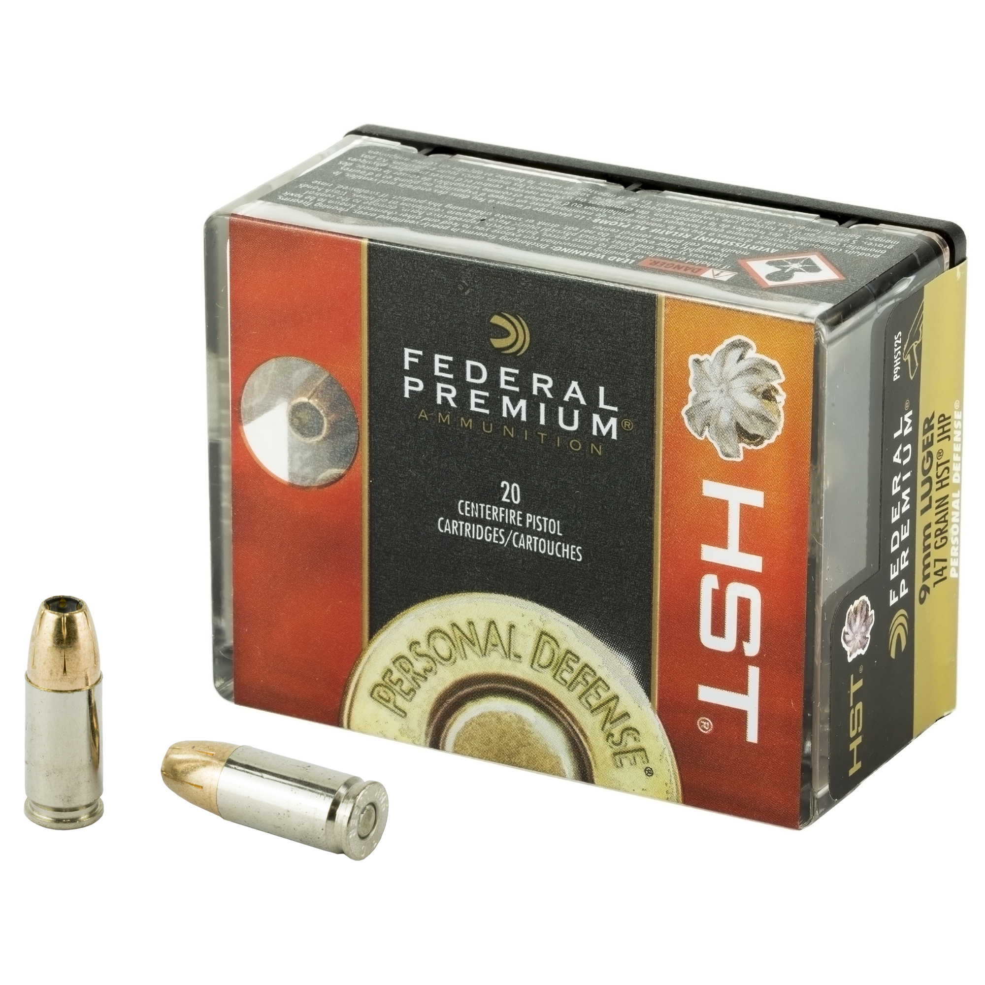Federal P9HST2S Premium Personal Defense Micro 9mm Luger 147 gr HST Jacketed Hollow Point 20 Box